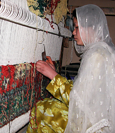 Barakat project weaver in Afghanistan.