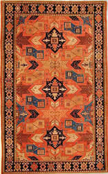 Kazak - vegetable dyes, hand spun, cand carded wool