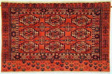 Afghan Chuval with vegetable dyes, hand spun and hand carded wool.