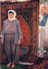 A DOBAG Weaver and Her Rug