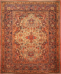 Caucasian Kazak. Antique Oriental rug circa 1890. A rare and wonderful tribal prayer design rug.