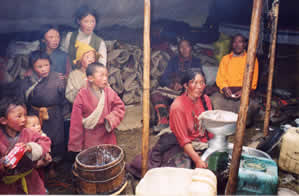 Tibetan Family in Yurt