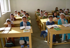One of two schools in Northern Afghanistan built with Barakat funding.