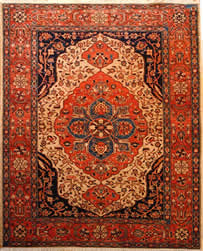 Afghan Ferahan. Vegetable dyed, handmade Oriental rug circa 2000. A classical persian design hand woven by Afghan weavers.
