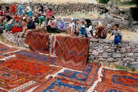 DOBAG rugs on display in Turkey.