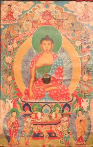 """8018 Nepal Buddha 02'00""""X03'06"""""""